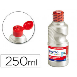 Tempera liquida giotto escolar 250 ml metalizada plata