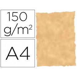 Papel pergamino din a4 troquelado 150 gr color parchment ocre paquete de 25