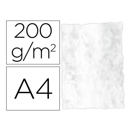 Papel pergamino din a4 troquelado 200 gr color marmoleado gris paquete de 2