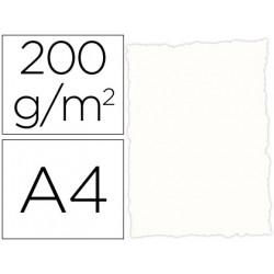 Papel pergamino din a4 troquelado 200 gr color rustico blanco paquete de 25