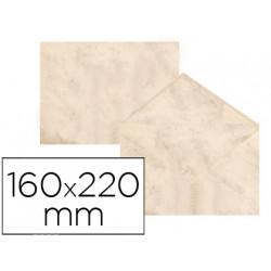 Sobre fantasia marmoleado beige 160x220 mm 90 gr paquete de 25