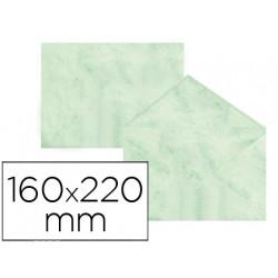 Sobre fantasia marmoleado verde 160x220 mm 90 gr paquete de 25