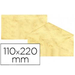Sobre fantasia marmoleado amarillo 110x220 mm 90 gr paquete de 25