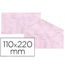 Sobre fantasia marmoleado rosa 110x220 mm 90 gr paquete de 25