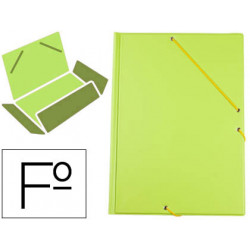 Carpeta liderpapel gomas plastico folio solapa color verde pistacho