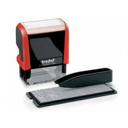 Imprenta automatico framun 38x14 mm especial impresion en textil tinta negr