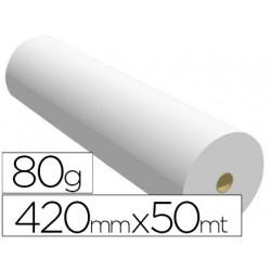 Papel reprografia para plotter 420mmx50mt 80gr impresion inkjet