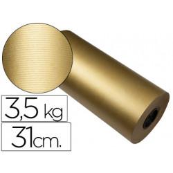 Papel fantasia kraft havana frech oro bobina 31 cm 35 kg