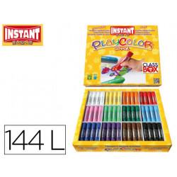 Tempera solida en barra instant escolar caja de 144 unidades 12 colores sur