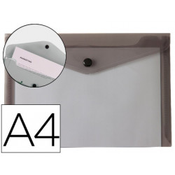 Carpeta liderpapel dossier broche polipropileno din a4 negro transparente 5