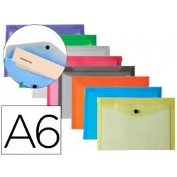 Carpeta liderpapel dossier broche polipropileno din a6 12 colores surtidos