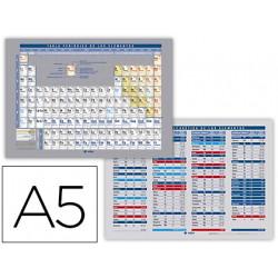 Tabla periodica de elementos impresa a doble cara plastificada din a5