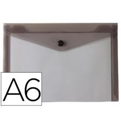 Carpeta liderpapel dossier broche polipropileno din a6 negro transparente