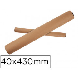 Tubo de carton qconnect portadocumentos tapa plastico 40x430 mm