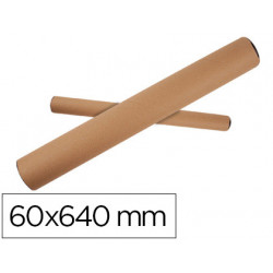 Tubo de carton qconnect portadocumentos tapa plastico 60x640 mm
