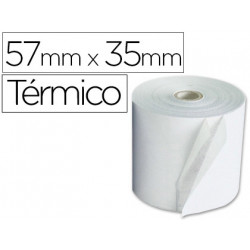 Rollo sumadora qconnect termico 57 mm ancho x 35mm diametro para maquinas