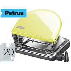 Taladrador petrus 52 amarillo mellow yellow capacidad 20 hojas