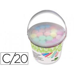 Tiza color liderpapel para suelo cubilete de 20 unidades colores surtidos