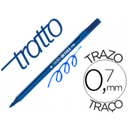 Rotulador tratto office fine punta de fibra trazo 07 mm azul
