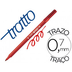 Rotulador tratto office fine punta de fibra trazo 07 mm rojo