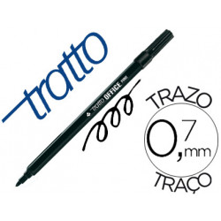 Rotulador tratto office fine punta de fibra trazo 07 mm negro