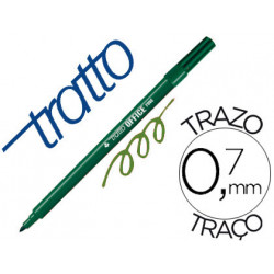 Rotulador tratto office fine punta de fibra trazo 07 mm verde