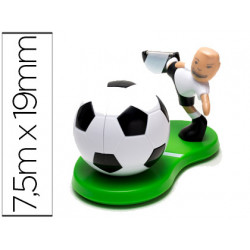 Portarollos sobremesa scotch mundial futbol de 75 mtx19mm incluye rollo de
