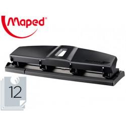 Taladrador maped essentials metal 4 taladros capacidad 12 hojas color negro
