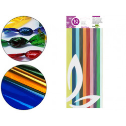 Papel celofan liderpapel 50x70 cm 22g/m2 bolsa de 10 hojas colores surtidos
