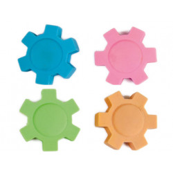 Goma liderpapel mecano con forma de rueda colores surtidos