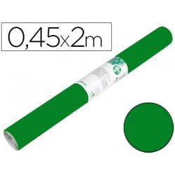 Rollo adhesivo liderpapel unicolor verde brillo rollo de 045 x 2 mt