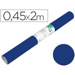 Rollo adhesivo liderpapel unicolor azul brillo rollo de 045 x 2 mt