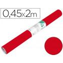 Rollo adhesivo liderpapel unicolor rojo brillo rollo de 045 x 2 mt