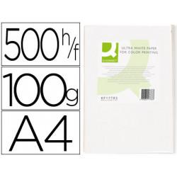 Papel fotocopiadora qconnect ultra white din a4 100 gramos paquete de 500
