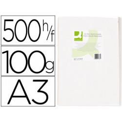 Papel fotocopiadora qconnect ultra white din a3 100 gramos paquete de 500