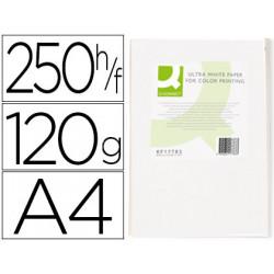 Papel fotocopiadora qconnect ultra white din a4 120 gramos paquete de 250