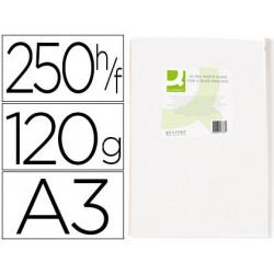 Papel fotocopiadora qconnect ultra white din a3 120 gramos paquete de 250