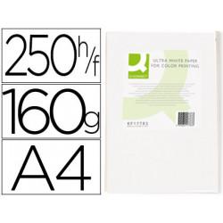Papel fotocopiadora qconnect ultra white din a4 160 gramos paquete de 250