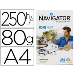 Papel fotocopiadora navigator home pack din a4 80 gramos paquete de 250 hoj