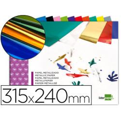 Bloc trabajos manuales liderpapel papel metalizado 240x315 mm 10 hojas colo