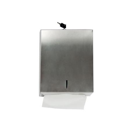 Dispensador qconnect de toallitas de papel acero inoxidable 283x100x365 mm