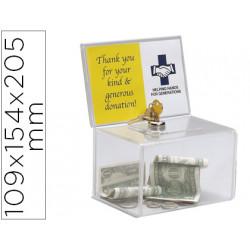 Buzon de sugerencia archivo 2000 con cerradura y dos llaves color cristal t