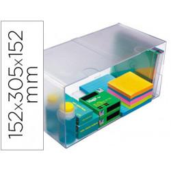 Archicubo archivo 2000 hueco doble en poliestileno transparente 152x305x152