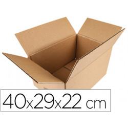 Caja para embalar qconnect americana medidas 400x290x220 mm espesor carton
