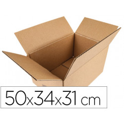 Caja para embalar qconnect americana medidas 500x340x310 mm espesor carton