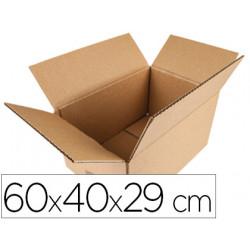 Caja para embalar qconnect americana medidas 600x400x290 mm espesor carton