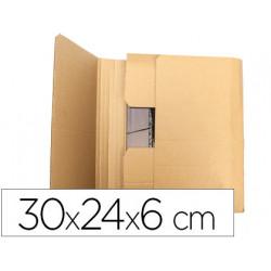 Caja para embalar qconnect libro medidas 300x240x60 mm espesor carton 3 mm