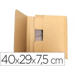 Caja para embalar qconnect libro medidas 400x290x75 mm espesor carton 3 mm