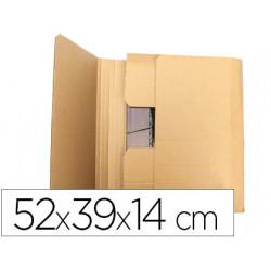Caja para embalar qconnect libro medidas 520x390x140 mm espesor carton 3 m