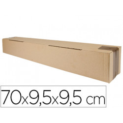 Caja para embalar qconnect tubo medidas 700x95x95 mm espesor carton 3 mm